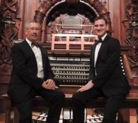 Two Men on a Bench (Mark Thewes & Chad Pittman, organists)